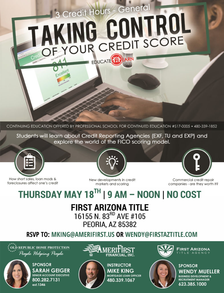 Take Control of your Credit @ First AZ Title Agency