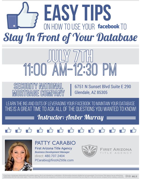 Stay in Front of your Database @ Security National Mortgage Company