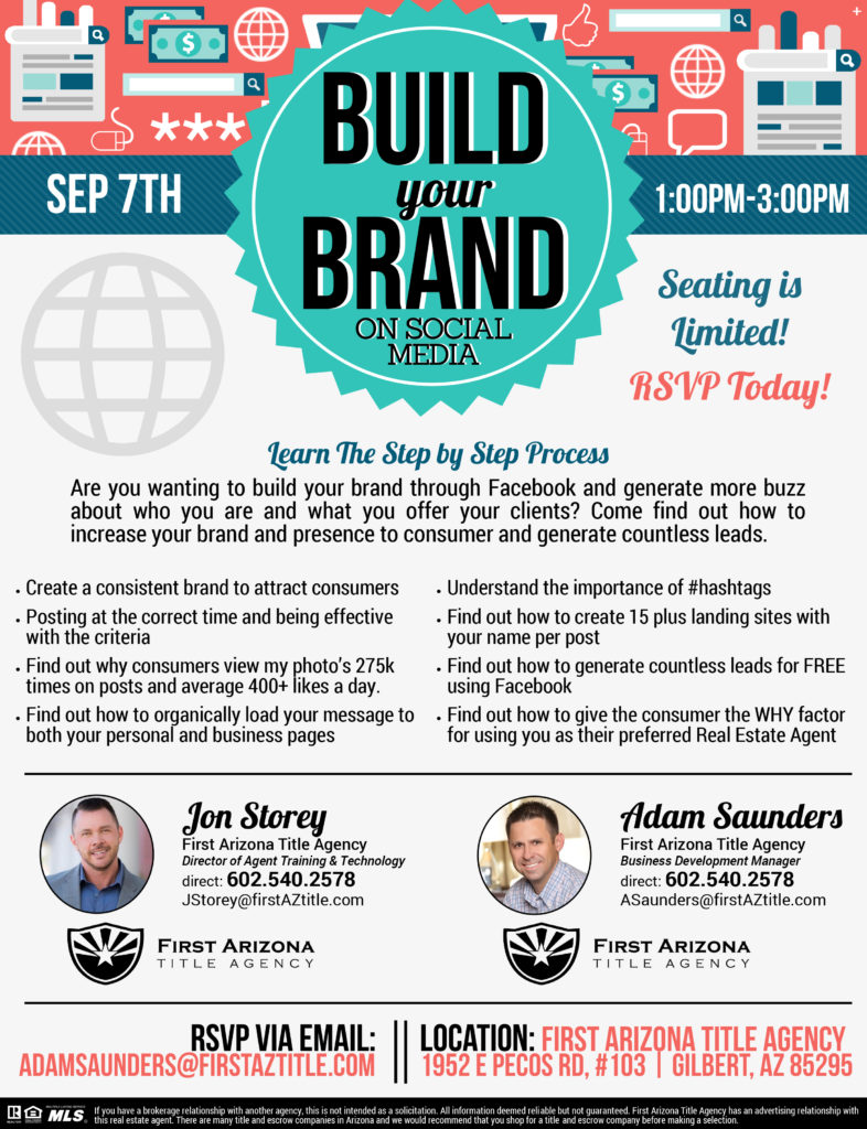Build your Brand on Social Media @ First Arizona Title Agency Gilbert