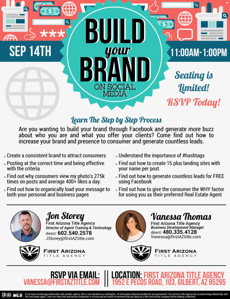 Build your Brand on Social Media @ First Arizona Title Agency