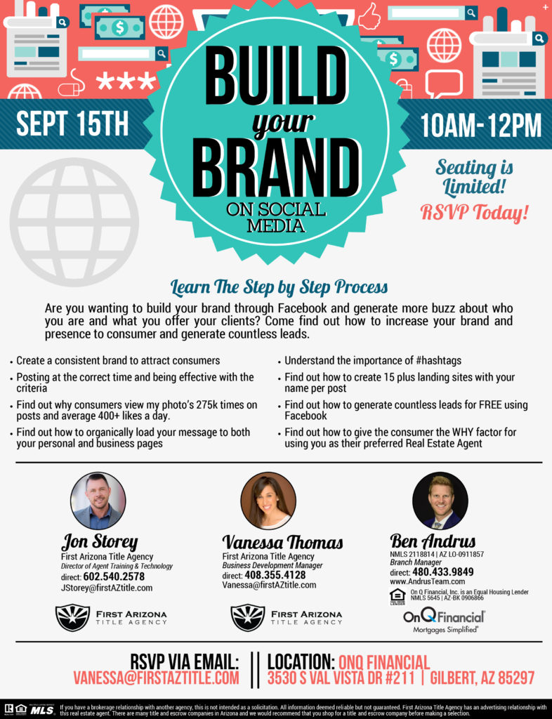 Build your Brand on Social Media @ OnQ Financial