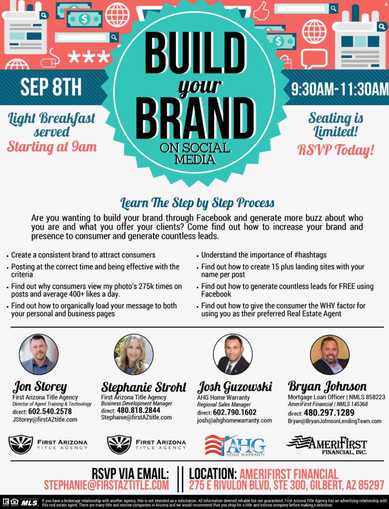 Build your Brand on Social Media @ AmeriFirst Financial