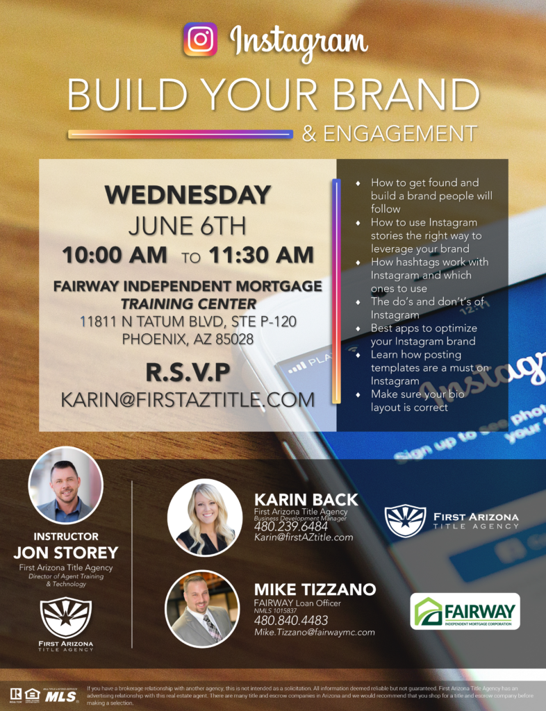 Instagram: Build Your Brand and Engagement @ Fairway Independent Mortgage Training Center