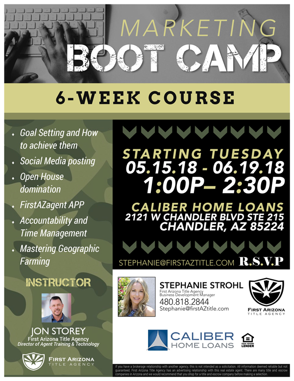 Marketing Boot Camp @ Caliber Home Loans