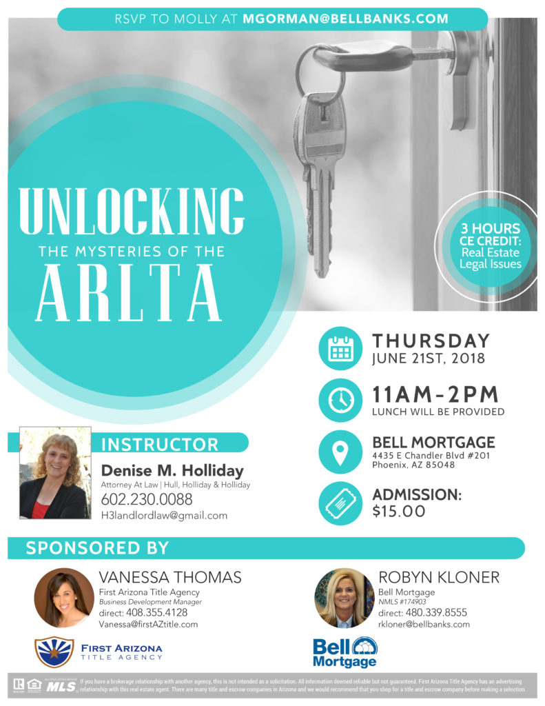Unlocking the Mysteries of the ARLTA @ Bell Mortgage