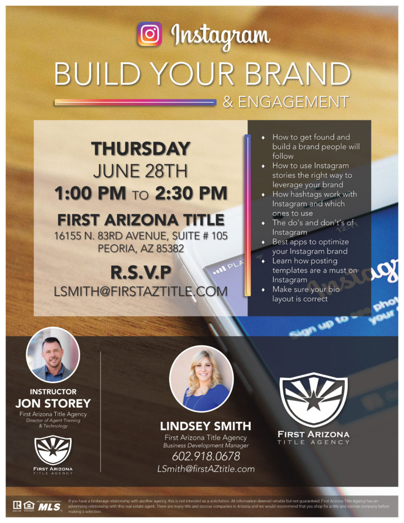 Instagram | Build Your Brand & Engagement @ First Arizona Title