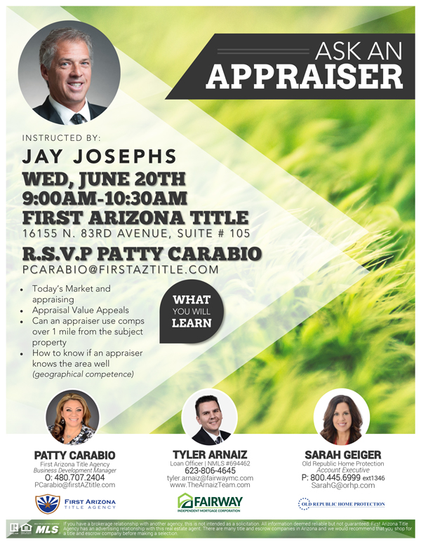 Ask an Appraiser @ First Arizona Title