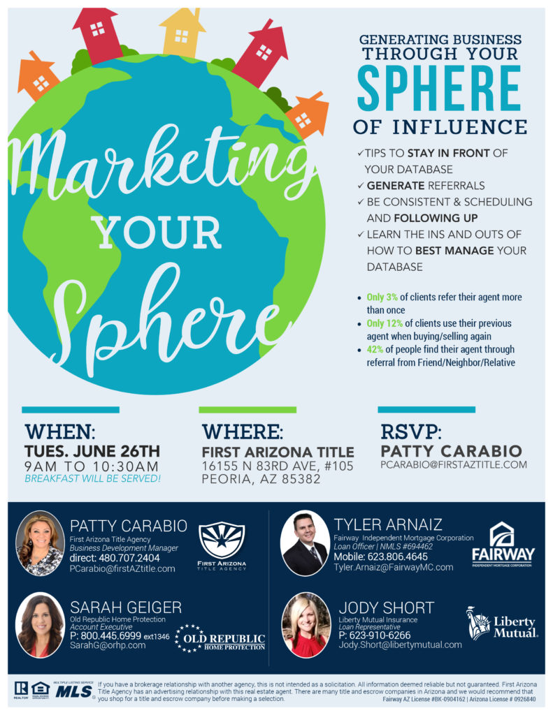 Marketing Your Sphere @ First Arizona Title