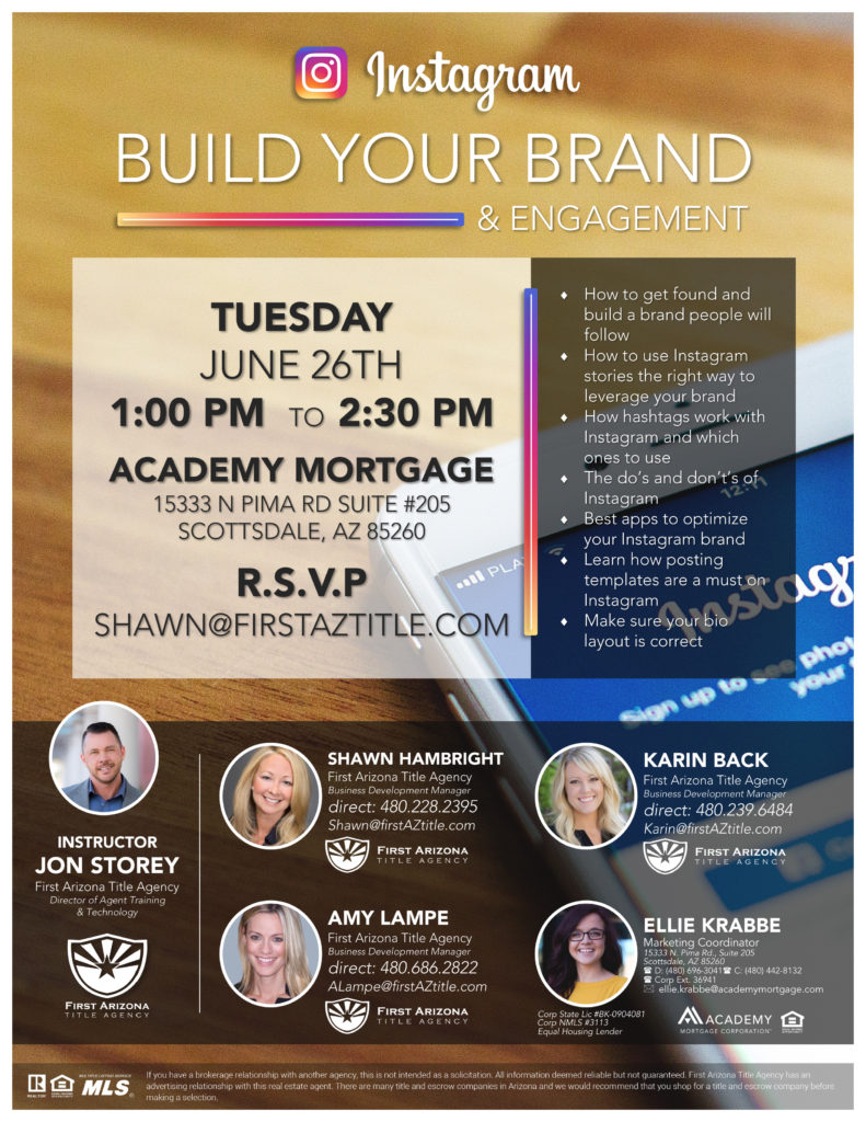 Instagram | Build Your Brand & Engagement @ Academy Mortgage