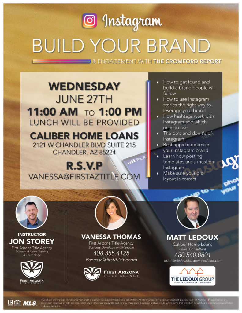 Instagram | Build Your Brand & Engagement @ Caliber Home Loans