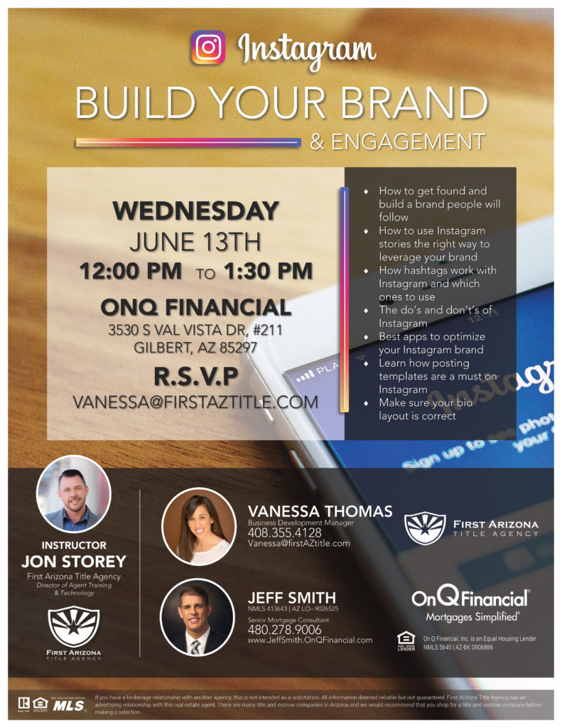 Instagram  | Build Your Brand & Engagement @ OnQ Financial