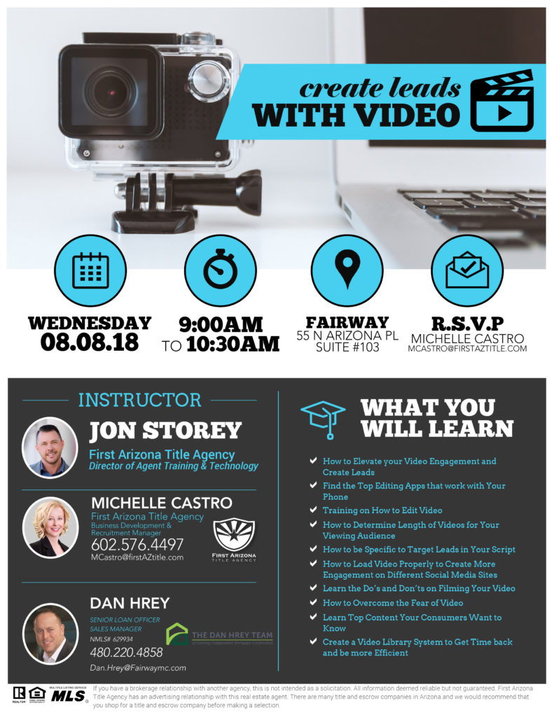 Create Leads with Video @ Fairway Mortgage