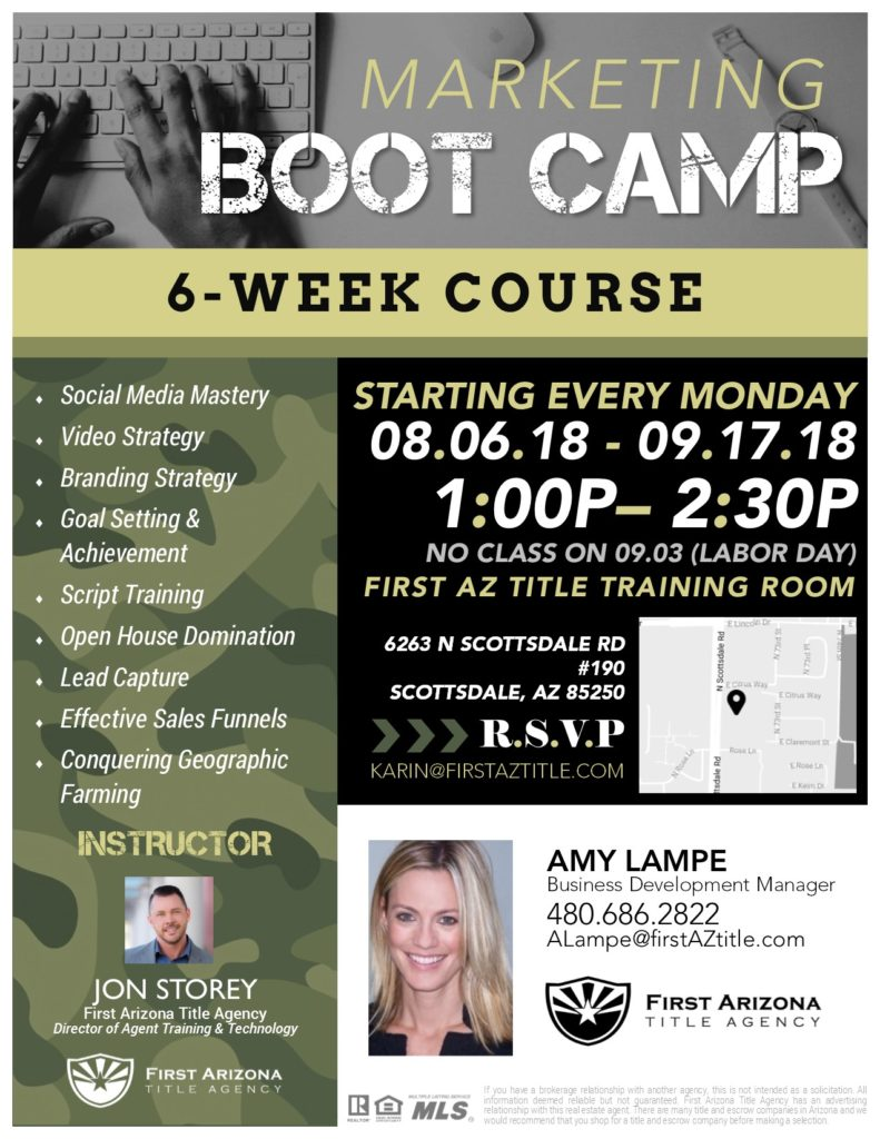 Marketing Boot Camp @ First AZ Title Training Room