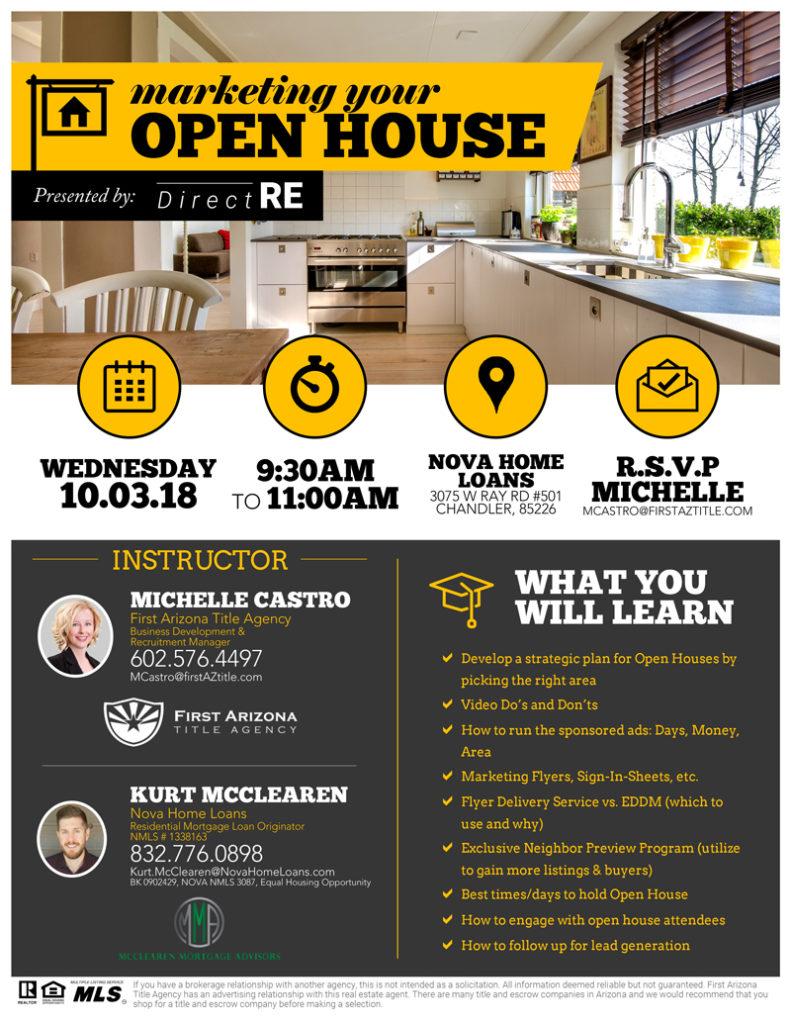 Open House Marketing @ Nove Home Loans