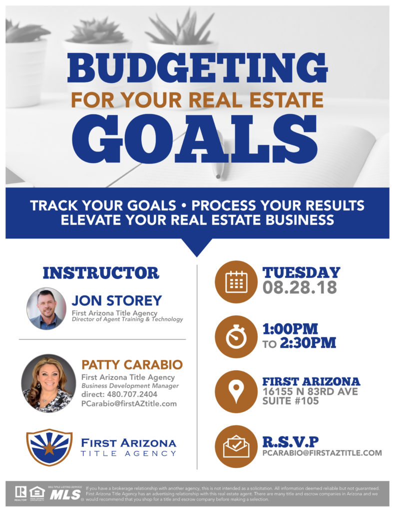 Budgeting for Your Real Estate Goals @ First Arizona Title