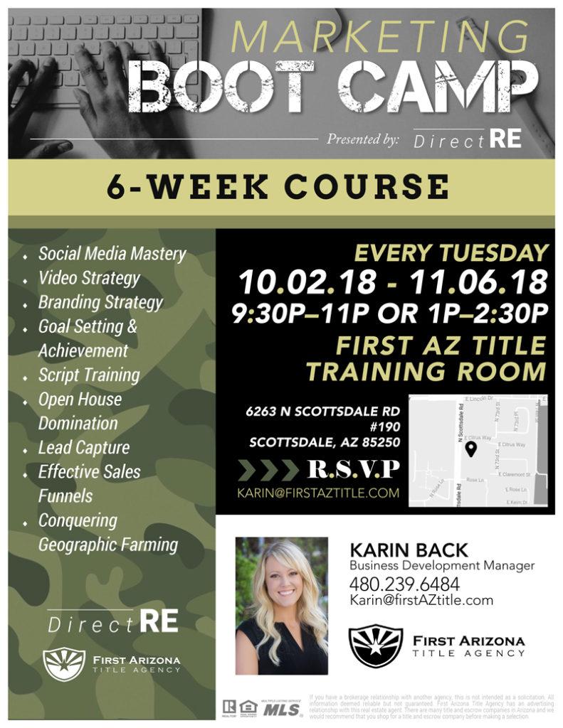 Marketing Boot Camp @ First AZ Title