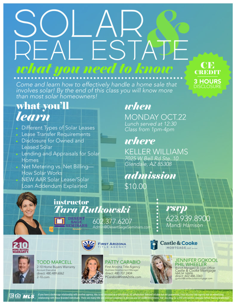 Solar & Real Estate @ Keller Williams