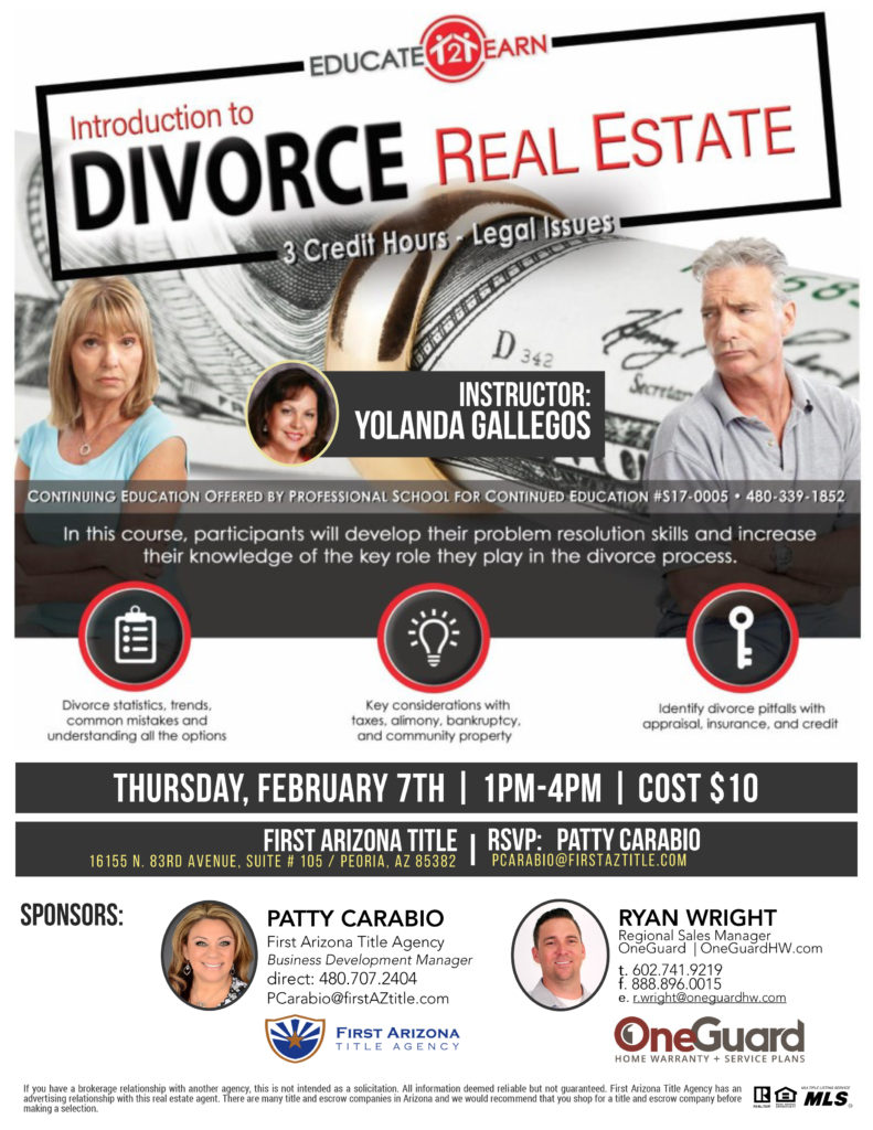 Introduction to Divorce Real Estate @ First Arizona Title