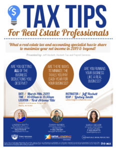 Tax Tips for Real Estate Professionals